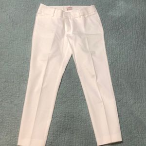 EUC Size 10 Merona -White modern fit pants